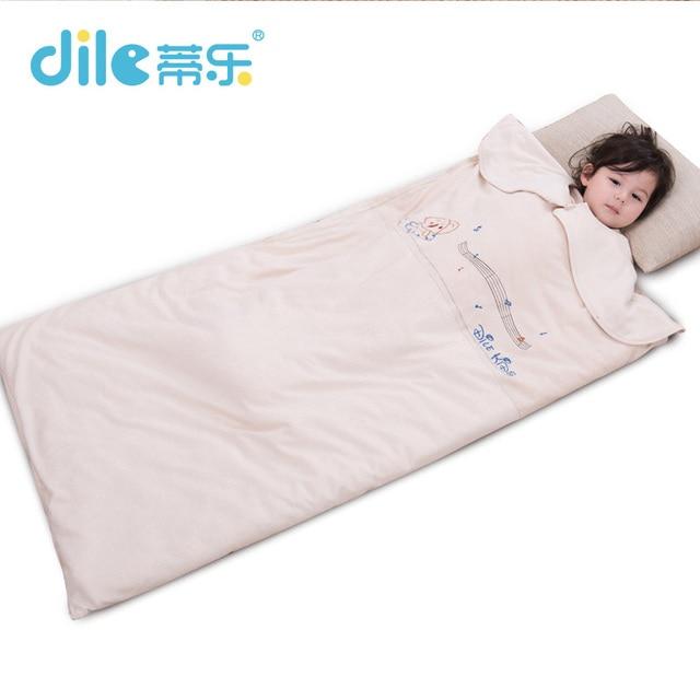 New  Baby Sleep Bag For Winter sleepsack Soft Cotton Child Kick Baby Sleep Set Bear Print Born 120cm*70 Cm bed set Thickening