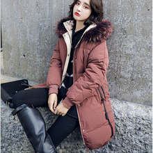 Down Coats Winter Women Hoodie Long Down Jacket Women'S Cotton Coat Thicken Warm Slim Cotton Clothes Fashion New Hight Quality