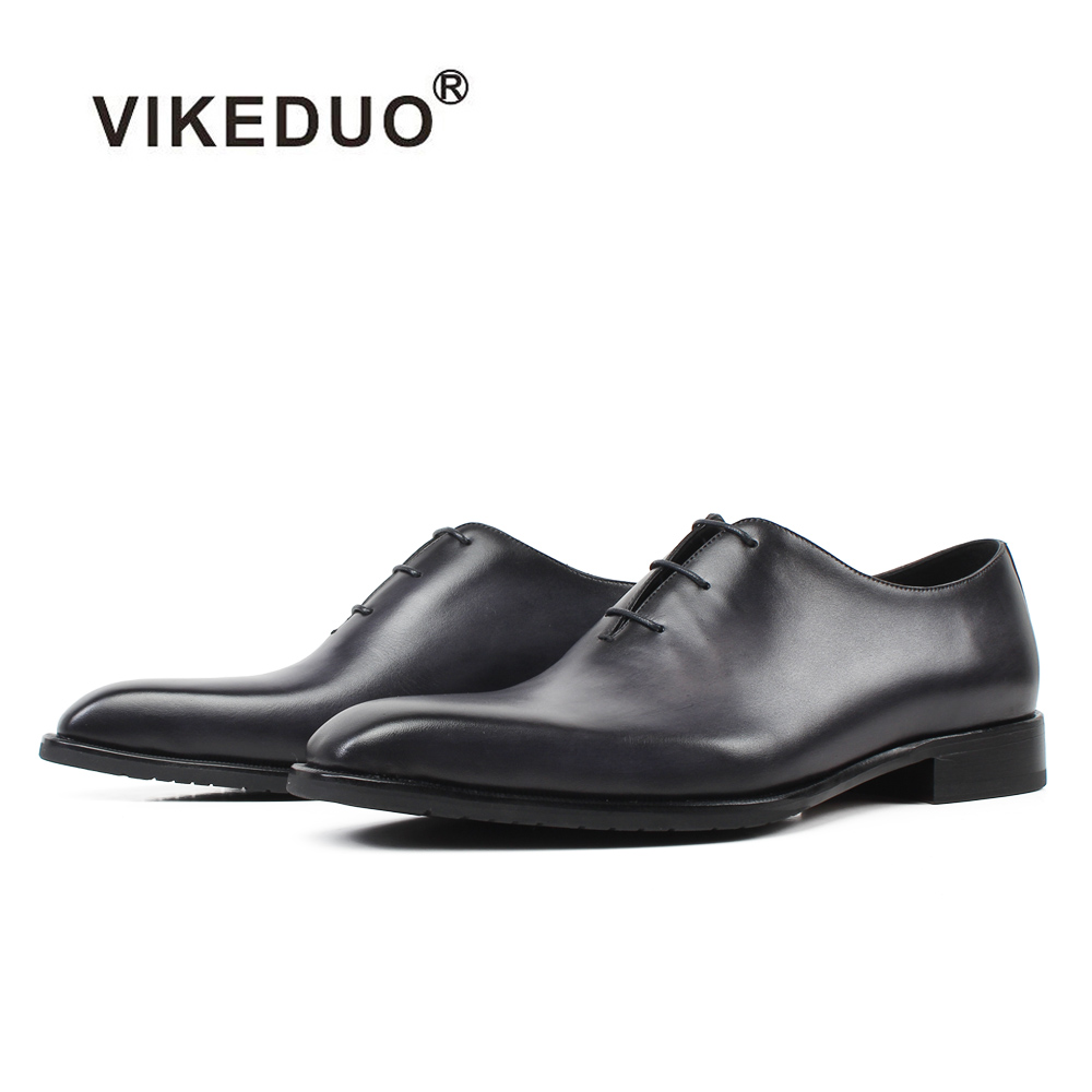 VIKEDUO New 2019 Patina Men Dress Shoes Gray Genuine Leather Wedding Office Zapatos de Hombre Handmade Blake Bespoke Oxford ShoeVIKEDUO New 2019 Patina Men Dress Shoes Gray Genuine Leather Wedding Office Zapatos de Hombre Handmade Blake Bespoke Oxford Shoe