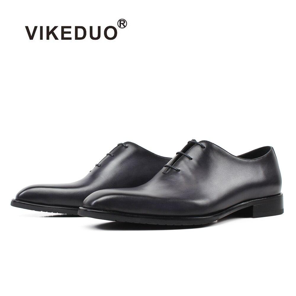 Cuir Oxford De En Main Hommes Véritable Zapatos Blake Bureau Nouveau Gris Chaussure Gray Chaussures Vikeduo Sur 2019 Mariage Hombre Patine Habillées Mesure I7Ybvf6gym