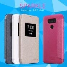Leather Case đối với LG G6 NILLKIN sparkle PU leather lật bìa thông minh wake up cửa sổ đối với lg g6 (5.7 inch)