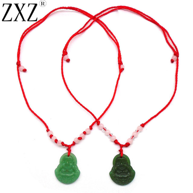 pendant coin necklace zoom chinese red fortune string p jade