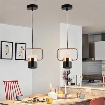 Nordic simple bar restaurant LED pendant light study bedroom bedside single metal creative clothing shop cafe showcase COB lamp