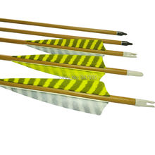 30 inch Wood Camo Carbon Arrows ID 6.2mm SP500 Striped Feather for Outdoor Archery Bow