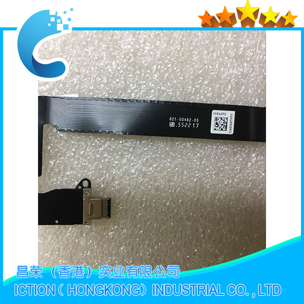 10pcs/lot A1534 Power DC-IN Jack Power cable 821-00482-05/A For Apple Macbook Pro 13 Retina A1534 821-00482-05/A 2016 Year new lcd cable for macbook a1370 a1369 a1465 a1466 a1425 a1502 a1398 a1534 lcd flex cable 821 00318 01 821 00318 a