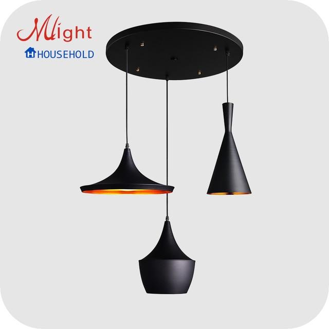Estilo de país eua luz de alumínio sala de jantar pingente lâmpadas para casa e bares