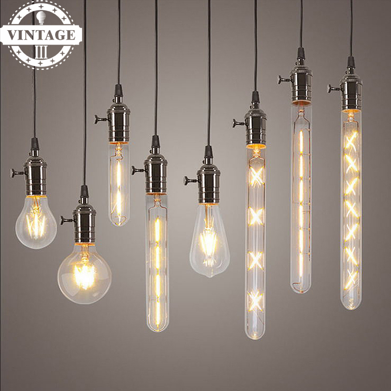 Lightinbox LED Candle Light Filament Light G80 G95 ST64 220V 2W 4W 6W Bulb Antique Retro Vintage Edison Led Bulb Lamps
