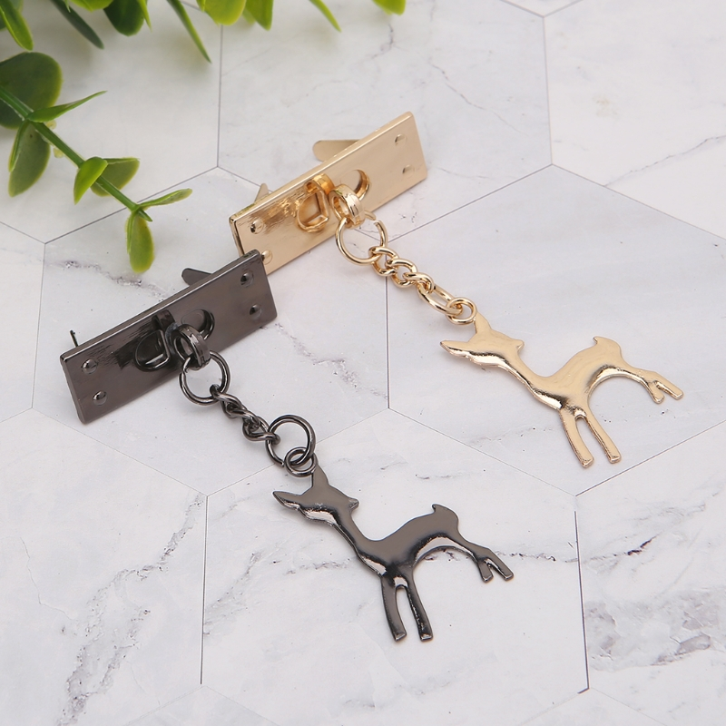 Deer Pendant Metal Decoration For DIY Handbag Craft Shoulder Bag Hardware