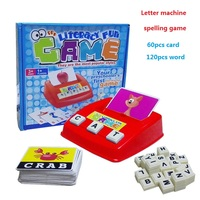 English Word Learning Machine Puzzle Toy Letters Machine Card Spelling Game Educational Toys For Kids Literacy