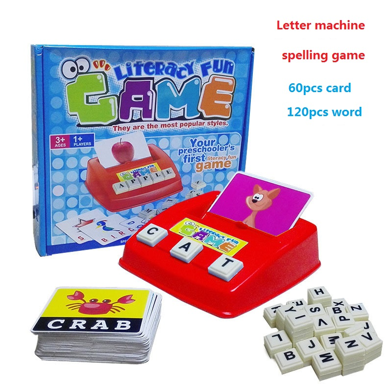 Toys For Cards : English word learning machine puzzle toy letters