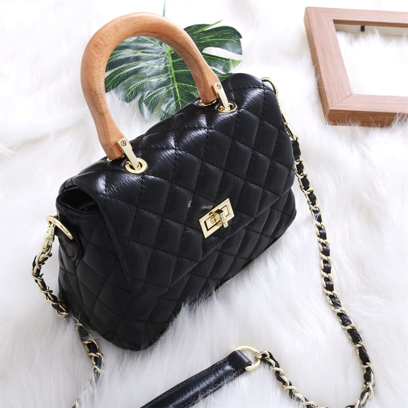 188ca20de27 Bestbaoli 100% Genuine Leather Bags For Women Fashion Cowhide Shoulder Bag  High Quality Wooden Dand Handbags Ladies Totes Bolsas-in Shoulder Bags from  ...