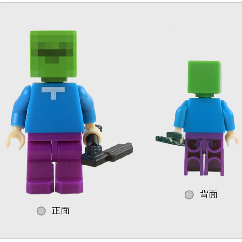 6pcs set Minecrafted Toy With Weapon Hanger Action Figure Minecrafted 3D Models Classic Collection Toys in Action Toy Figures from Toys Hobbies
