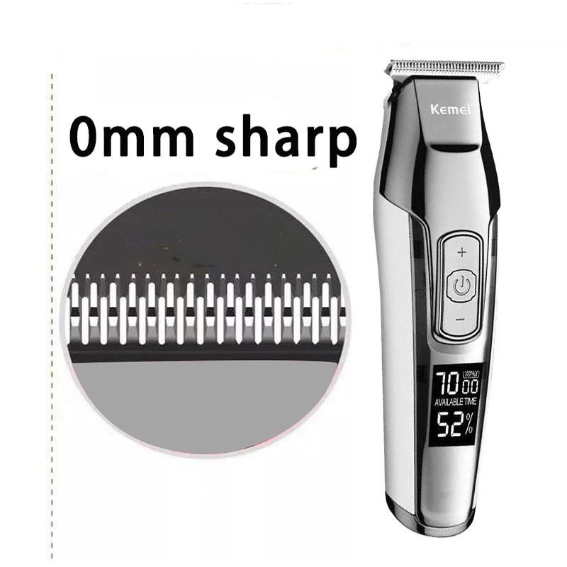 Kemei Barber Professional Hair Clipper LCD Display 0mm Baldheaded Beard Hair Trimmer for Men DIY Cutter Electric Haircut Machine 1