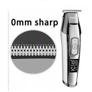 Image 2 - Kemei Barber Professional Hair Clipper LCD Display 0mm Baldheaded Beard Hair Trimmer for Men DIY Cutter Electric Haircut Machine