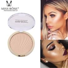 Miss Rose Highlighter Brighten Powder Palette Long Lasting Easy to wear Bronzer Glow Whitening Concealer Base Makeup