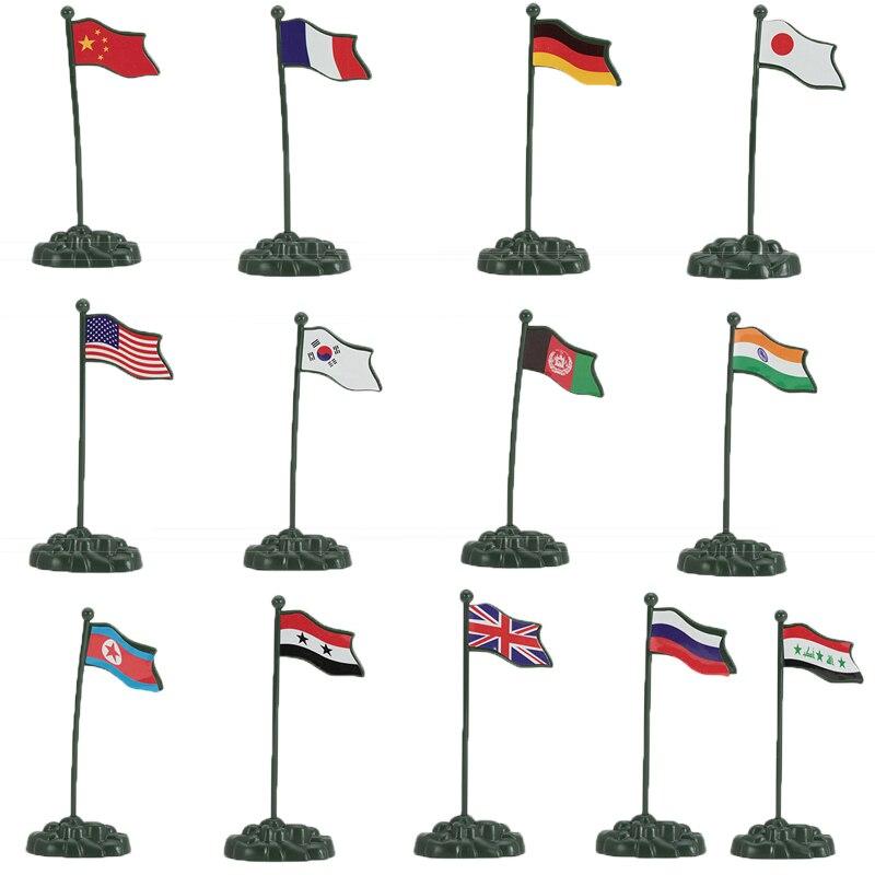 13ピース/セット12センチ旗中国米国ドイツロシア英国フランス日本シリア北朝鮮afganstanイラクインド