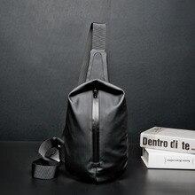 สีดำกันน้ำไนลอนชายกระเป๋าผู้ชายกระเป๋ากระเป๋าสะพายกระเป๋า Satchel Yob แบบพกพา Slant แพคเกจแพ็คกระเป๋าเดินทางขนาดเล็ก Messenger กระเป๋า