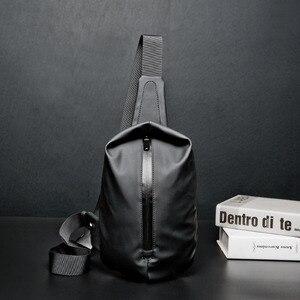 Image 1 - Waterproof Black Nylon Male Chest Bag Men Bags Sling Bag Satchel Yob Portable Slant Package Pack Travel Male Small Messenger Bag