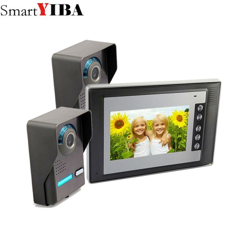 SmartYIBA 7 Inch Home Security Doorphone Doorbell CMOS IR Night Vision Outdoor Camera Vi ...