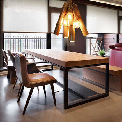 100CM Bamboo Retro Loft Style Pendant Lights,Creative Nature Hanging Lamp Lamparas Colgantes,Pendant Lamps For Dining Room