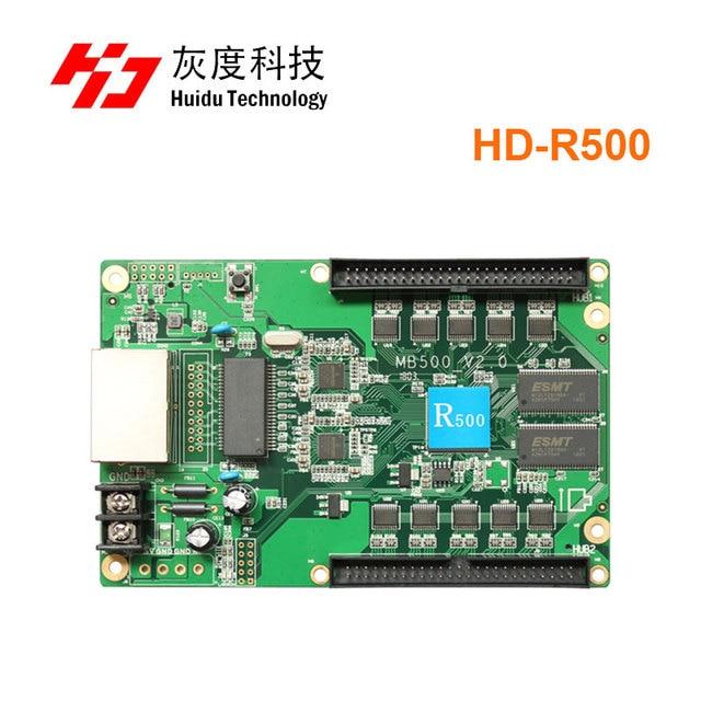 Huidu R500 מלא סינכרוני צבע led וידאו תצוגת HD R500 led מקלט עבודה יכול עם בקרת כרטיס HD C10C/HD C35/HD A3/T901