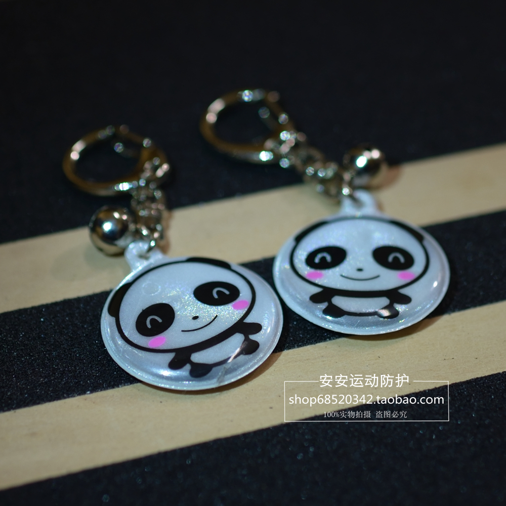 1 piece New Fashion Cute Multi Color Smiley Face Reflective Key Chain Key Ring Bag Hanging