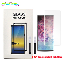 UV Glass For Samsung S9 Plus S10 Note 9 Full Cover note 10 Glue Liquid Screen Protector Mate30 Pro