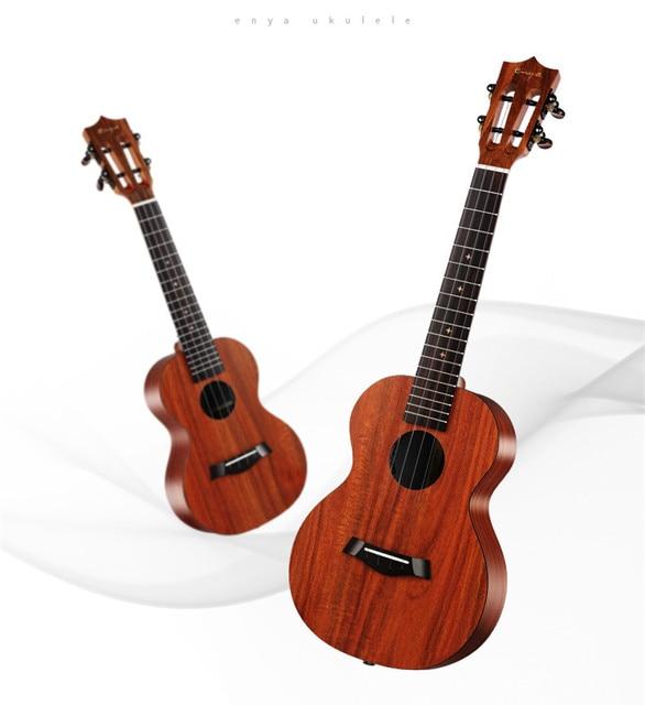 Enya X1 23 26 inch Ukulele Hawaii Guitar Concert Tenor Koa With Classical Head With Bag