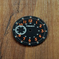 Watch Parts  39mm Black Watch Dial OrangeMarks Dials Fit for ETA 6497 Seagull ST3600 Movement CD39BO|Repair Tools & Kits|   -