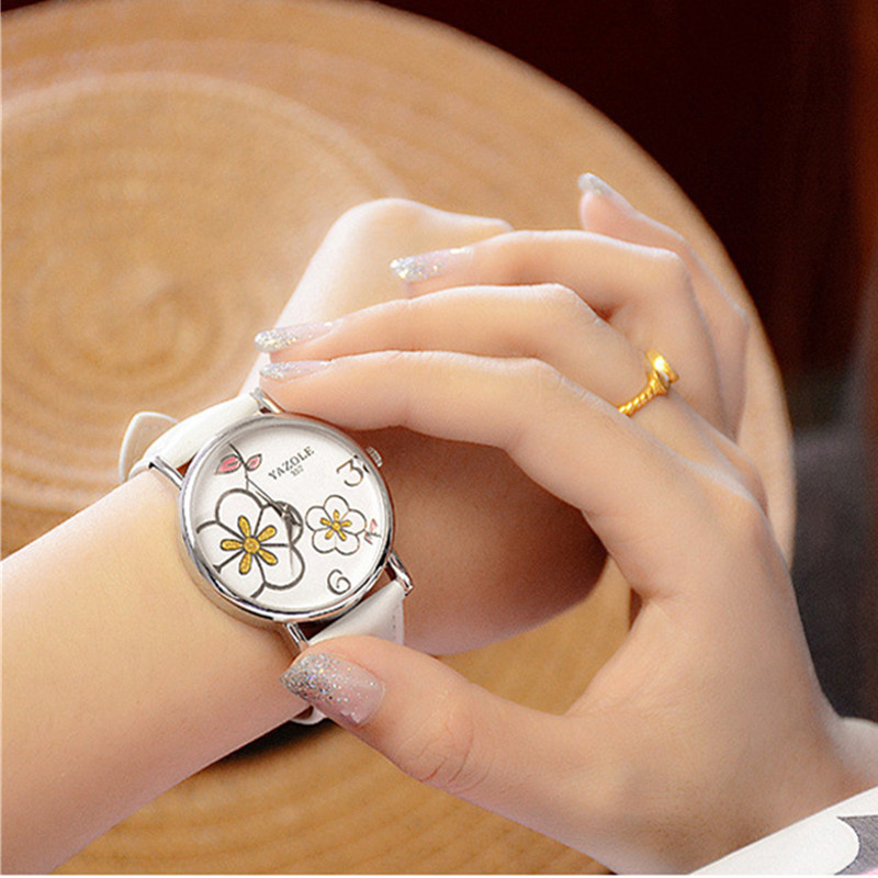 YAZOLE Elegant Flowers Wrist watch Fashion Crystal Watch Women Watches Luxury Ladies Watch Clock saat montre relogio reloj mujer sinobi ceramic watch women watches luxury women s watches week date ladies watch clock montre femme relogio feminino reloj mujer