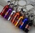 NOS Turbo Keychain Creative New Mini Nitrous Oxide Bottle Keyring Key Chain Ring Keyfob Stash Pill Box Storage