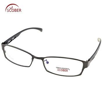 Gafas de lectura fotocrómico progresivo multifocal de aleación de titanio para miopía óptica con marco de ojo de luz TR escudo completo