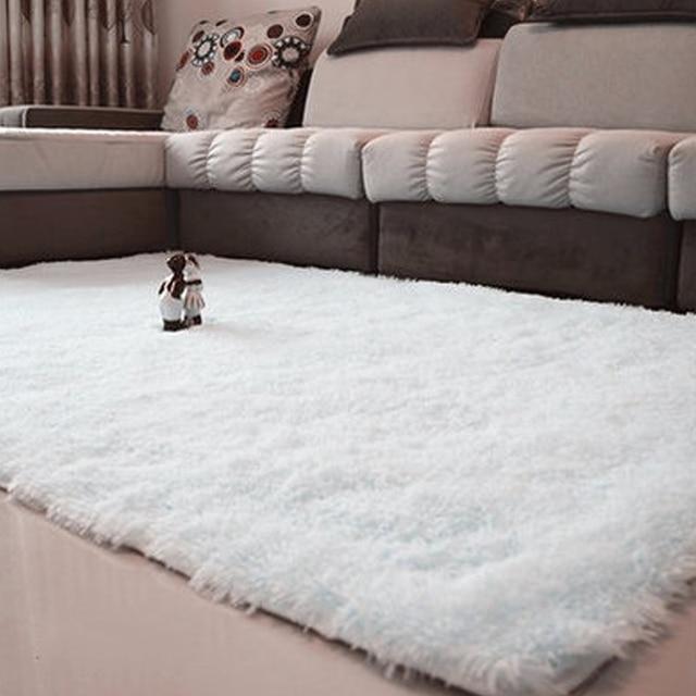 Teppiche Für Wohnzimmer Shaggy Elfenbein Wolle Teppich anti skid ...