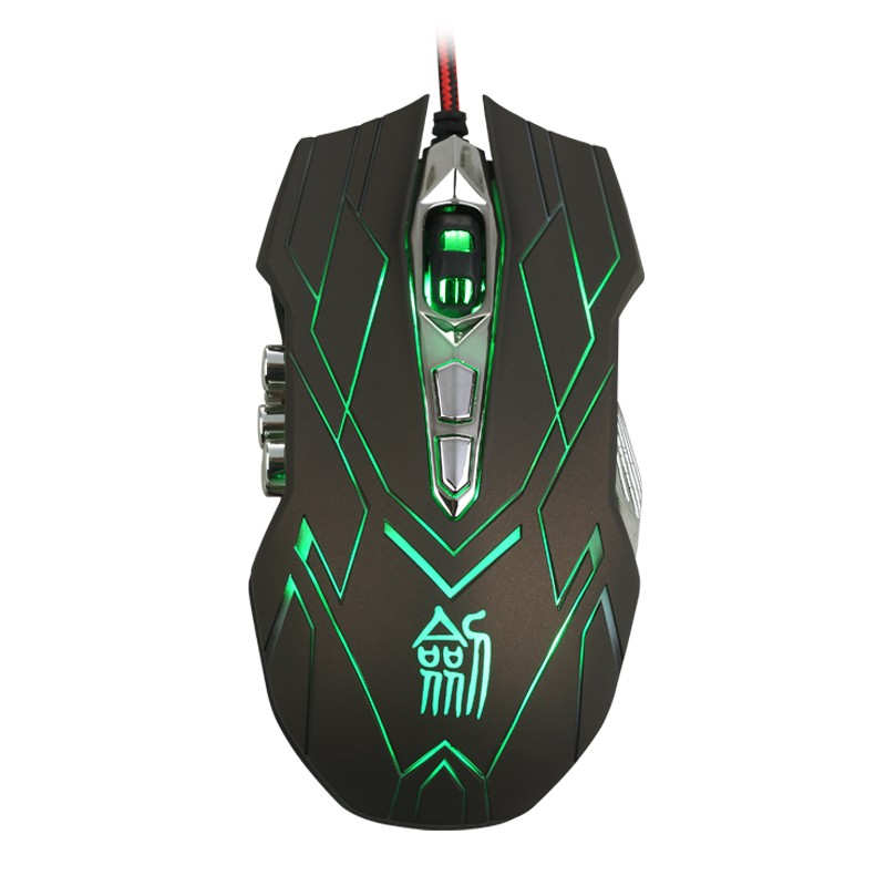 Hongsund NEW Suzaku II Gaming mouse+800/1200/1600/2400 DPI +USB 3D Professional Competitive Gaming 9 Buttons Mice 41