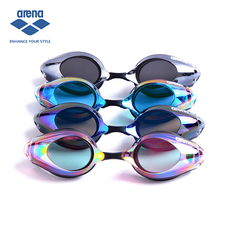ARENA 2017 New HD Waterproof  Anti Fog Swimming Glasses Swim  Eye wear With Various Styles Coating Professional Racing Goggles arena anti fog uv protection racing swimming goggles men women professional waterproof swim anti fog goggles outdoor adjustable
