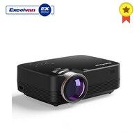 Excelvan Q6 мини светодиодный проектор 1800 люмен Сенсорная панель портативный мультимедийный видео проектор 1080 P HDMI VGA USB Домашний кинотеатр US Plug