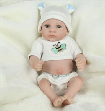10-inch Realistic full body silicone reborn dolls Girl Fashion Newborn Baby Doll Handmade reborn babies Kids Birthday Gift fashion reborn baby doll girl full body silicone vinyl 58cm 23inch realistic newborn baby doll kids birthday christmas gift