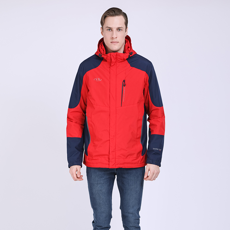 TALIFECK 2020  New Men's Waterproof Windpoof Jackets Men Spring Autumn Jacket Coats Spliced Male Brand Clothing Red Color Zipper