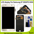 1pcs white N0  100% Testing OEM LCD display assembly touch screen digitizer For Samsung galaxy s7 G930A G9300 Replacement LCD