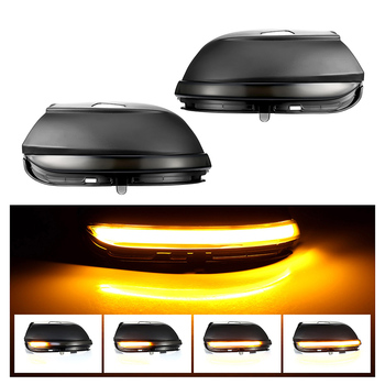 Side Mirror Light lamps Dynamic LED Blinker Car Turn Signal Light Sequential Mirror Turn Lamp for VW Scirocco MK3 Passat B7 CC