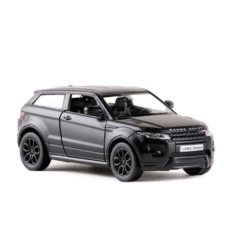 1:36 RMZ City High Simulation Alloy Car Metal Pull Back Aurora SUV Grind Arenaceous Matte Black Diecast Model Kids Toys Gifts