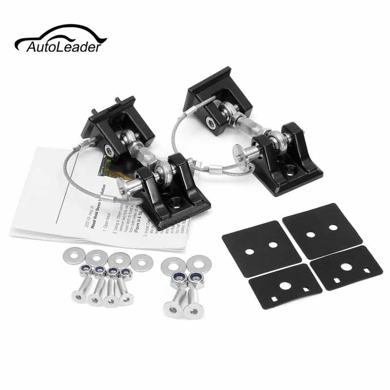 2Pcs Metal Black Hood Buckle Catch Lock Latches Hold Down For Wrangler JK Unlimited 2007-2016 2pcs metal black hood buckle catch lock latches hold down for wrangler jk unlimited 2007 2016