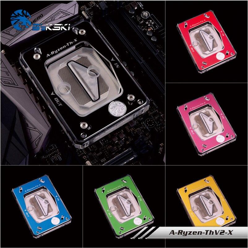 Bykski A-Ryzen-ThV2-X, Pour AMD CPU AM2 +/3/3 +/4/X399 Blocs D'eau, couleur Panneau RBW Système D'éclairage,