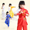 Children Kung Fu suit  Boy girl show set kid tai chi clothing