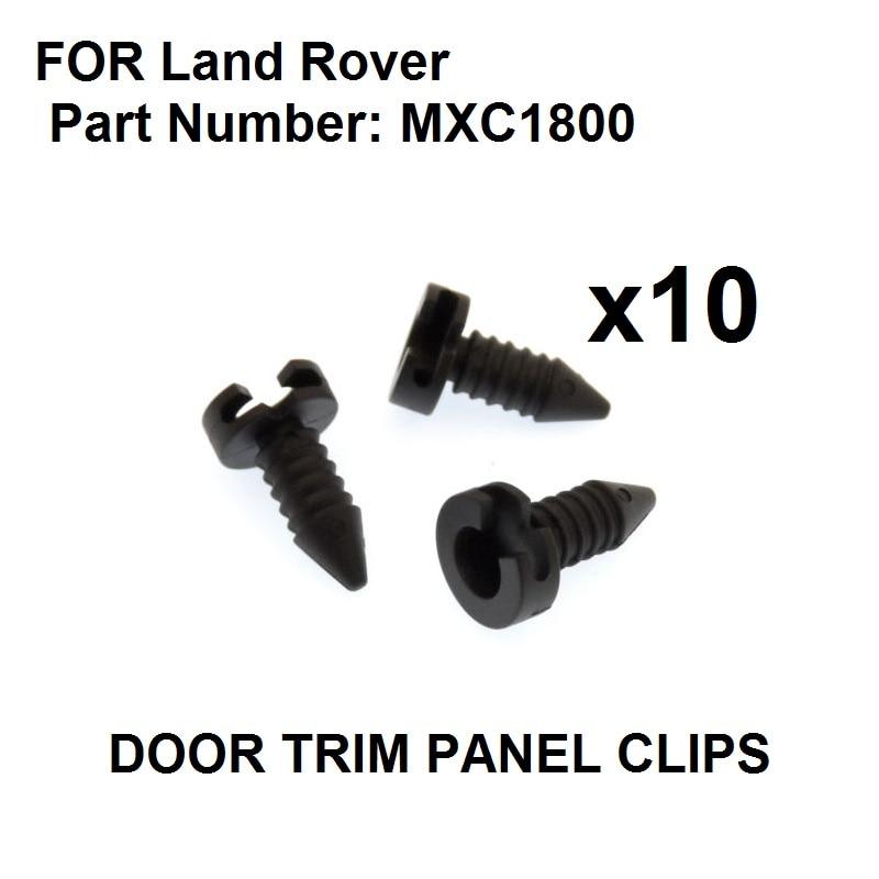 10x For Land Rover Defender Plastic Trim Clip /Stud Fastener for Interior Door Card