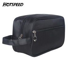 Fashion Trendy Business Men Toiletry Bag Black Travel Organizer Cosmetic Bag necessaries