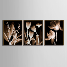 TOP SALE 3 Pcs/Set Artist  Modern bedroom flower Wall Art Canvas Poster and Print Painting Decorative (No Framed)