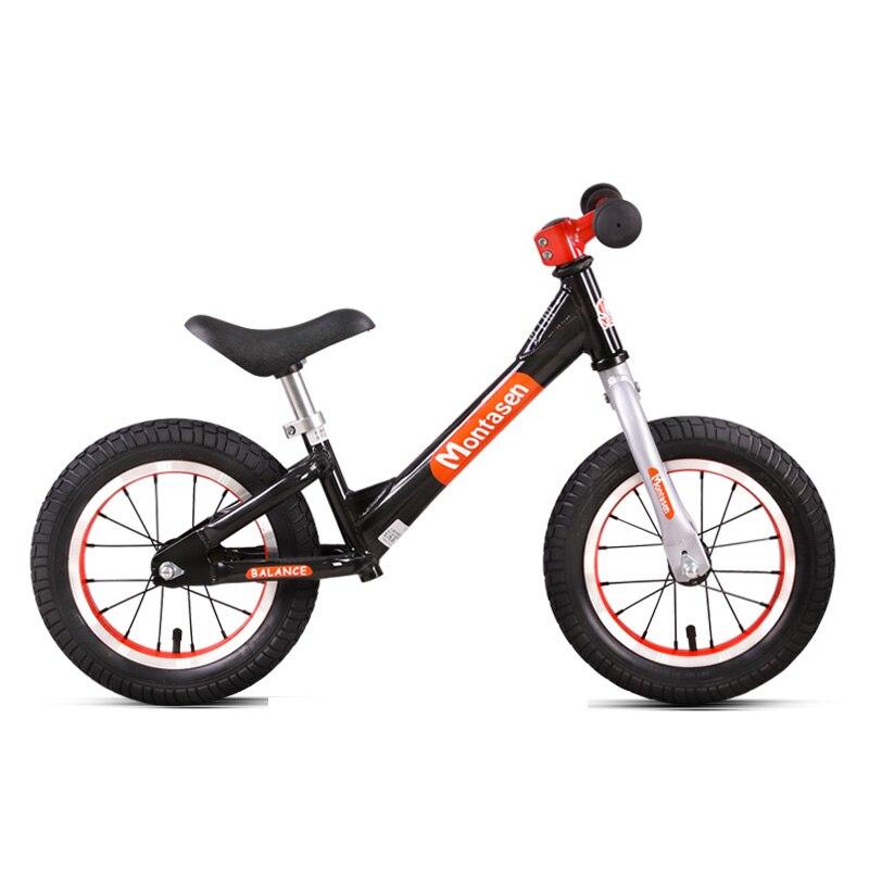Vélo équilibré à deux roues pour enfants 12 pouces pédale de vélo Portable moins bébé marche vélo équitation jouet 2-6 ans