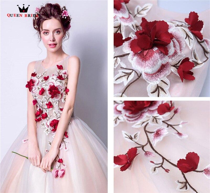 Королевские Свадебные вечерние платья, Пышное Бальное Платье, 3D Цветы, тюль, длинное женское вечернее платье, платья, новинка 2020, vestido de festa LS81 - 5