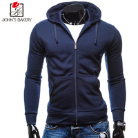 John S Bakery 2017 Mens Hoodie Pocket Male Casual Sweatshirt Hooded Hoodies Long Slim Zipper Coat